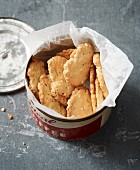 Lactose-free cheese biscuits with rosemary