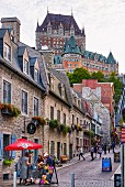 View of the Château Frontenac in Quebec, Canada
