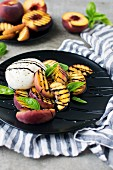 Grilled Peach Mozzarella Salad