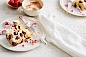 Nougat scones with mascarpone and raspberry cream (soul food)