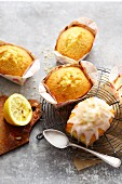 Mini Madeira cakes with lemon icing