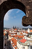 View from the Powder Tower in Prague, Czech Republic