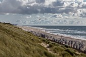 Cloudy skies on the island of Sylt in Germany