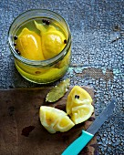 Preserved lemons with herbs (Morocco)