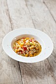 Risotto with pumpkin and peppers