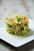 Chayote salad with yellow beetroot