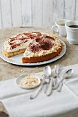 Sugar-free tiramisu cake with honey sponge
