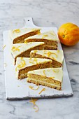 Sugar-free carrot cake with orange cream cheese