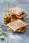 Sugar-free coconut waffles with pineapple and coriander salsa