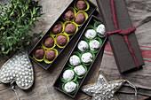 Schoko-Gewürz-Trüffelpralinen zu Weihnachten