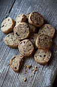 Hazelnut and cherry biscuits