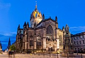 St Giles' Cathedral on the Royal Mile in Edinburgh, Scotland