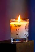 A 'Fleur de Sel' fragrant candle