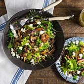 Mushroom and Kale Salad