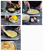 Making crepes suzette
