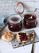 Vegan cherry and gingerbread jam
