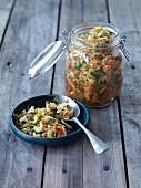 Home-dried salted vegetables (vegan)