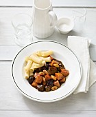 Beef goulash with Hokkaido pumpkin and dried plums