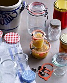 Glasses and jars for preserving, bottling and fermenting