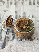 Sweet and sour preserved lentils