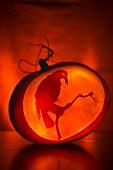 Geschnitzter Kürbis für Halloween