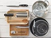 Küchenutensilien für Gnocchizubereitung