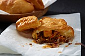 Piroshki (small pasties) with mince filling