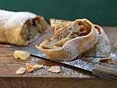 Wholegrain apple strudel with dried cranberries
