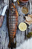 Smoked char with lemon and hard bread
