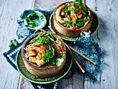 Soba Noodle Salad with Fried Prawns