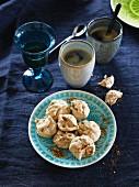 Coffee and hazelnut meringues