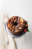 Fruit cake with cherries