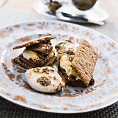 Smores on plate
