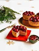 Individual Cranberry Topped Pork Pie