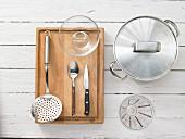 Kitchen utensils for the preparation of fruit dessert