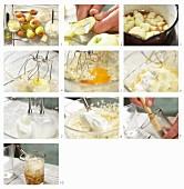Quark-Auflauf mit gedünsteten Äpfeln zubereiten