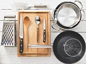 Kitchen utensils for making pumpkin risotto