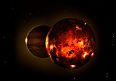 Artwork of Volcanic Moon Io