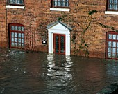 Flooded house, UK