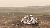 Schiaparelli EDM on Mars, illustration