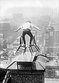 Daredevil stunt, early 20th century