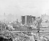 Ruins after 1906 San Francisco earthquake