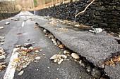 Flood damage at Thirlmere, UK