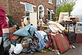 Flood damaged property, Carlisle, UK
