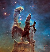 Pillars of Creation in Eagle Nebula, 2014 HST image