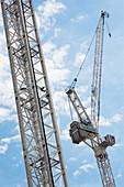 Crane against sky