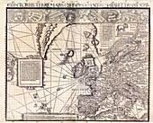 Section of Waldseemuller's Carta Marina, 1516