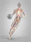 Basketball player, illustration