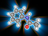 Acetanilide organic compound molecule