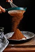 Sifting Cocoa Powder